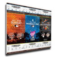 MLB Miami Marlins Sports 13-Inch x 33-Inch Framed Wall Art