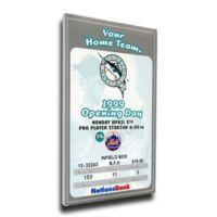 MLB Miami Marlins Sports 15-Inch x 30-Inch Framed Wall Art