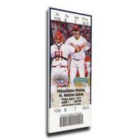 MLB Philadelphia Philles Sports 13-Inch x 32-Inch Framed Wall Art