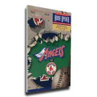 MLB Los Angeles Angels Sports 14-Inch x 33-Inch Framed Wall Art