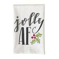 """Love You a Latte Shop """"Jolly AF"""" Kitchen Towel"""