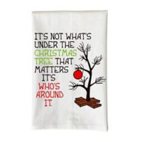 Love You a Latte Shop Under the Christmas Tree Kitchen Towel