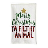 "Love You a Latte Shop ""Merry Christmas Ya Filthy Animal"" Kitchen Towel"