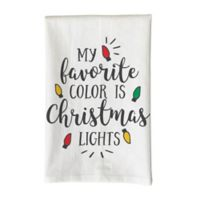 "Love You a Latte ""My Favorite Color is Christmas Lights"" Kitchen Towel in White"