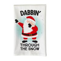 "Love You a Latte ""Dabbin' Through the Snow"" Kitchen Towel in White"
