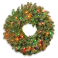 National Tree 2-Foot Norwood Fir Pre-Lit Wreath with Multicolor Lights