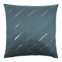 Sherry Kline Fairfield 20-Inch x 20-Inch Embroidered Velvet Throw Pillow in Atlantic Blue