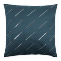 Sherry Kline Fairfield 20-Inch x 20-Inch Embroidered Velvet Throw Pillow in Blue