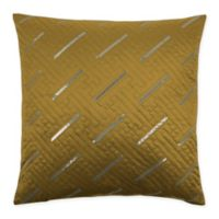 Sherry Kline Fairfield 20-Inch x 20-Inch Embroidered Velvet Throw Pillow in Gold