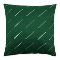 Sherry Kline Fairfield 20-Inch x 20-Inch Embroidered Velvet Throw Pillow in Green