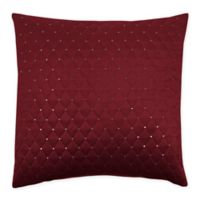 Sherry Kline Dixon Embroidered 20-Inch x 20-Inch Velvet Throw Pillow with Sequins in Burgundy