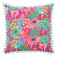 Rizzy Home Floral 18-Inch Square Throw Pillow in Purple