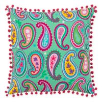 Rizzy Home Paisley 18-Inch Square Throw Pillow in Teal