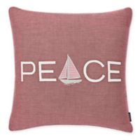 Nautica Peaceful Sailing 20-Inch Square Throw Pillow in Burgundy
