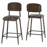 Hillsdale Furniture Adams Counter Stool in Brown (Set of 2)