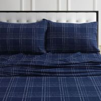 Tribeca Living® Oxford Flannel California King Sheet Set in Navy