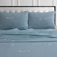 Tribeca Living® 170-Gsm Solid And Printed Sheets And Pillow Pairs 170 Thread Count Twin in Blue