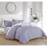 Dazza 6-Piece Queen Comforter Set in Lavender