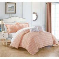 Dazza 6-Piece Queen Comforter Set in Coral
