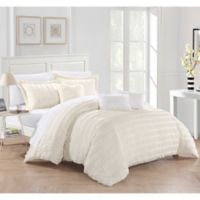 Dazza 6-Piece Queen Comforter Set in Beige