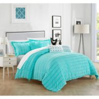 Dazza 6-Piece Queen Comforter Set in Blue