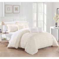 Dazza 6-Piece King Comforter Set in Beige