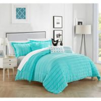 Dazza 6-Piece King Comforter Set in Blue