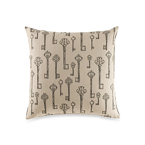 Lock and Key Ivory Throw Pillow