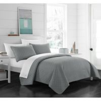 Chic Home Gideon King Quilt Set in Grey