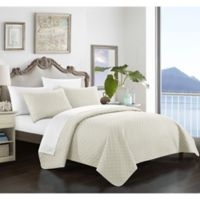 Chic Home Gideon King Quilt Set in Beige