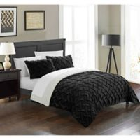 Chic Home Thirsa 3-Piece Queen Comforter Set in Black