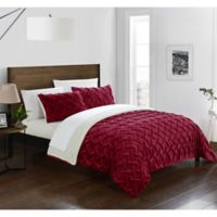 Chic Home Thirsa 3-Piece Queen Comforter Set in Red