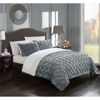 Chic Home Thirsa 3-Piece Queen Comforter Set in Grey