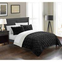 Chic Home Thirsa 3-Piece King Comforter Set in Black