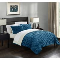 Chic Home Thirsa 3-Piece King Comforter Set in Teal