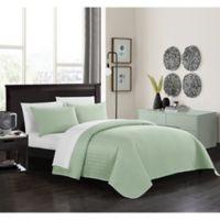 Chic Home Platt Queen Quilt Set in Green