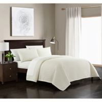 Chic Home Platt King Quilt Set in Beige