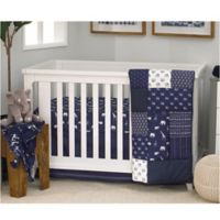 NoJo Serendipity 4-Piece Crib Bedding Set in Navy