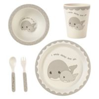 Precious Moments® Whale 5-Piece Child's Place Setting in Grey