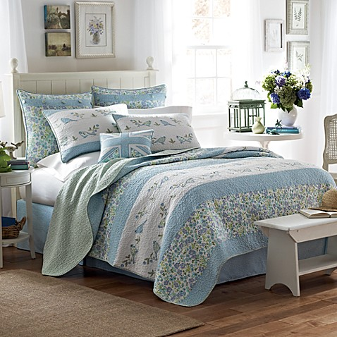 Laura Ashley Birds And Branches Quilt Bed Bath Beyond