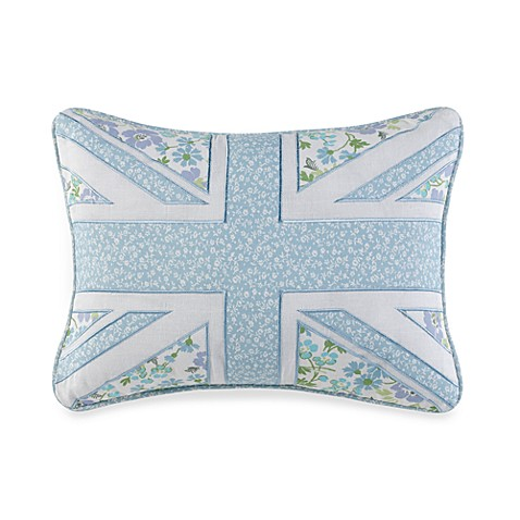 Laura Ashley® Birds and Branches Embroidered Oblong Throw Pillow