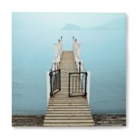 Menaggio Pier 14-Inch Square Canvas Wall Art