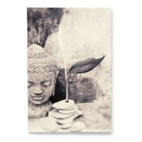 Artwall Black and White Buddha 8-Inch x 12-Inch Wrapped Canvas Wall Art