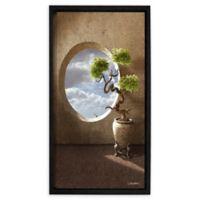 Haiku 12-Inch x 18-Inch Floating Frame Canvas Wall Art