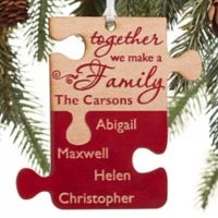 Pieces Of Love Personalized Family Ornament in Red