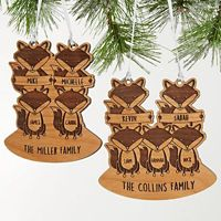 Fox Family Christmas Ornament