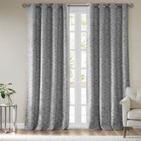 SunSmart Aster Woven Stripe 63-Inch Grommet Blackout Window Curtain Panel in Grey