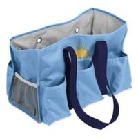 """""""Life is Good"""" Junior Caddy Tote in Powder Blue"""
