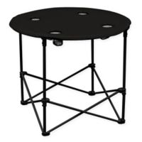 Portable Round Table in Black
