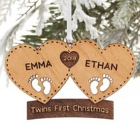 Twin Arrival Personalized Christmas Ornament